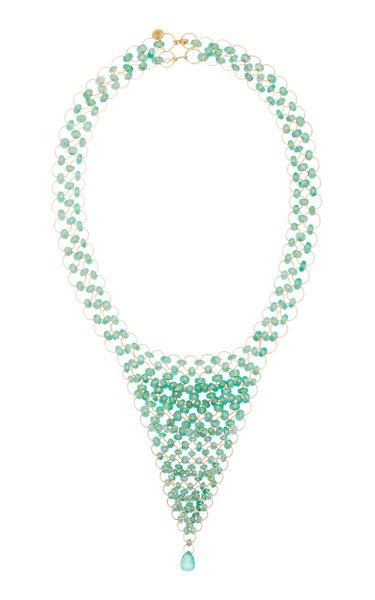 Kaleidoscope 18K Gold Emerald Necklace