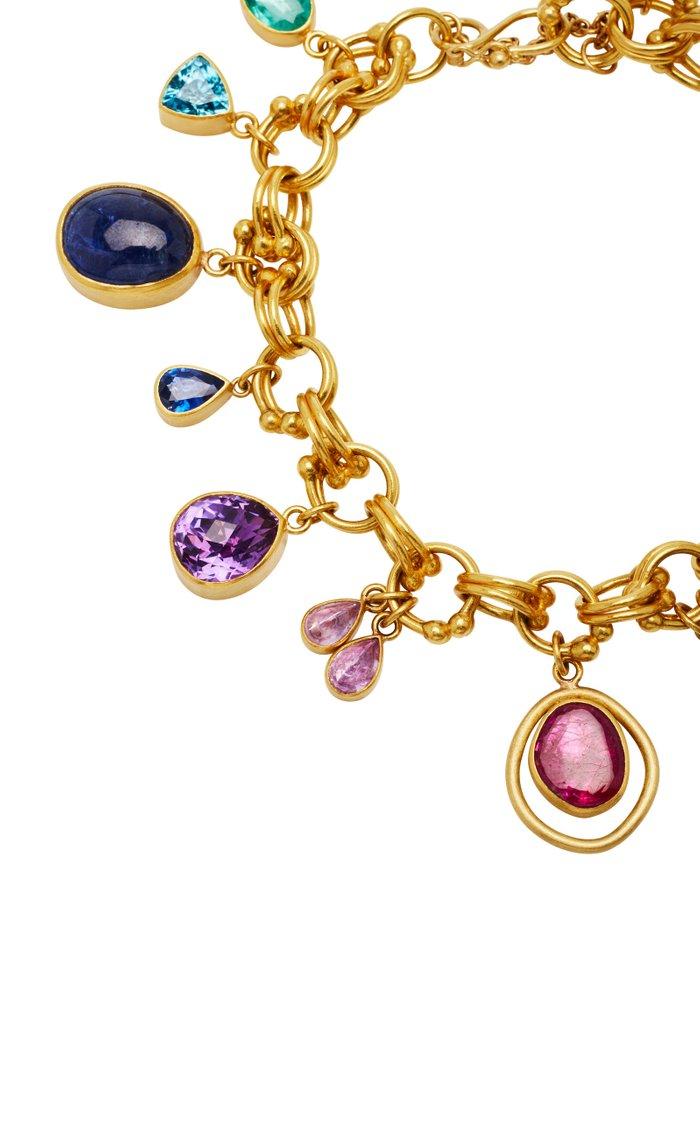Jubilee 22K Gold Multi-Stone Charm Bracelet