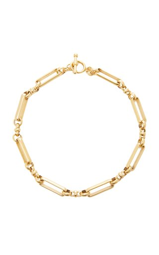 Checkmate 24K Gold-Plated Brass Link Necklace