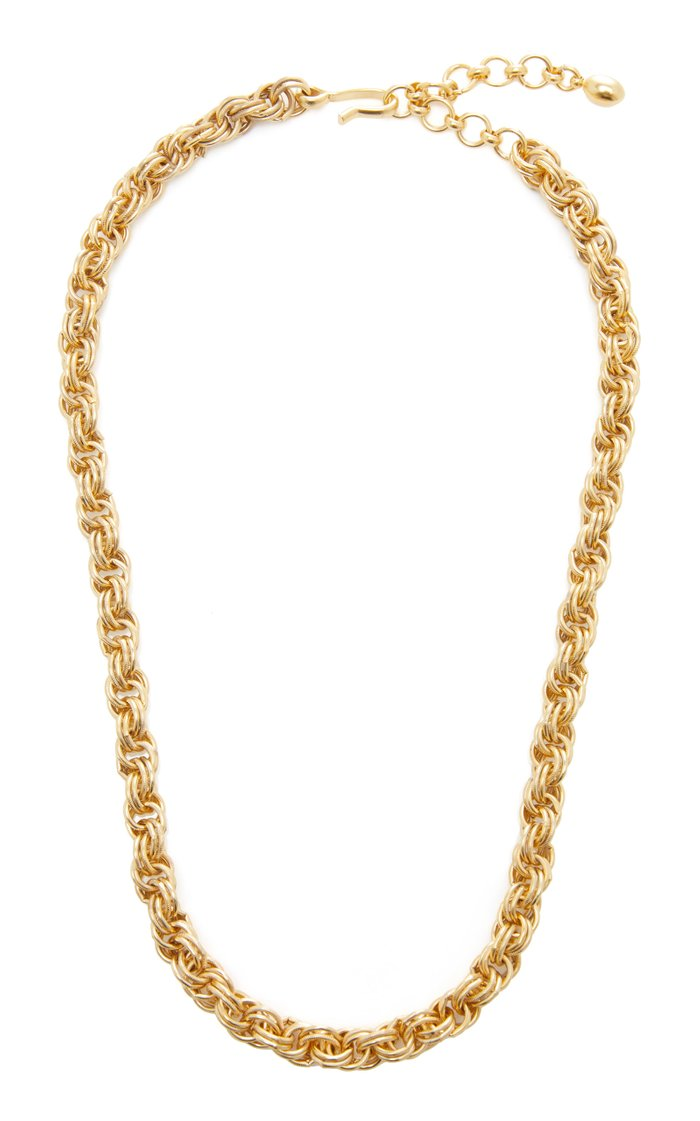 Chain Reaction 24K Gold-Plated Necklace