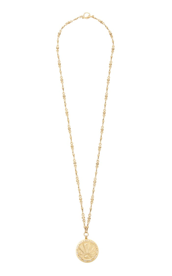 Karma 24K Gold-Plated Pendant Necklace