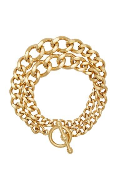 Heavy Metal 24K Gold-Plated Chain Wrap Bracelet