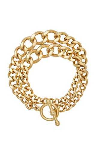 Heavy Metal 24K Gold-Plated Chain Wrap Bracelet