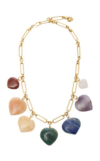 Carpe Diem Multi-Stone Heart Necklace