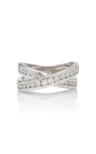 Infinity Sterling Silver And Diamond Ring