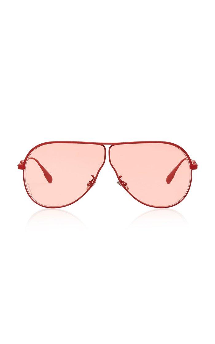 Dior Camp Aviator-Style Metal Sunglasses
