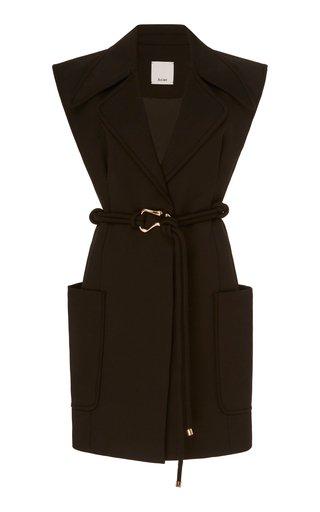 Osman Belted Stretch-Cotton Dress