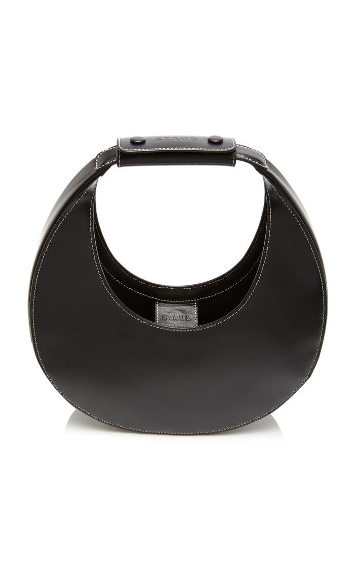Moon Leather Top Handle Bag