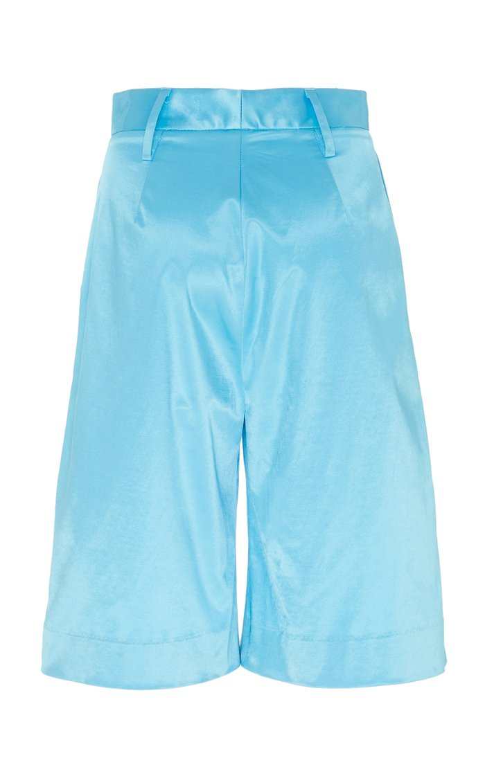 Noah Satin Bermuda Shorts