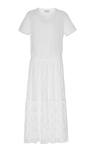 Lace And Cotton Tee Maxi Dress