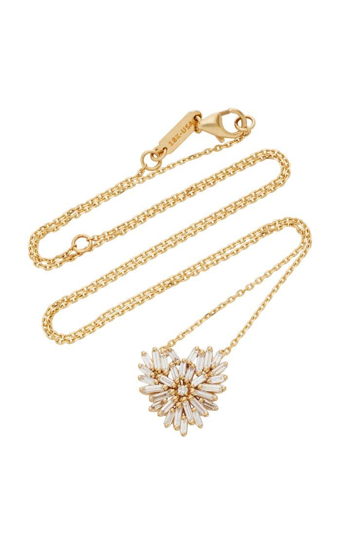 Angel Small 18K Gold Diamond Necklace