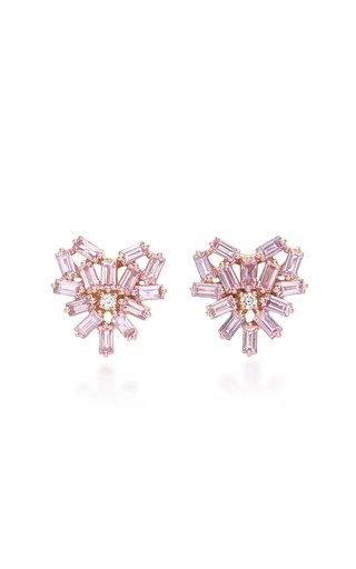Angel 18K Rose Gold, Sapphire and Diamond Earrings