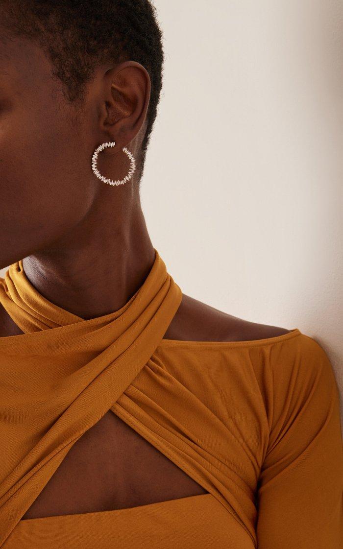 Spiral 18K Yellow-Gold Hoop Earrings