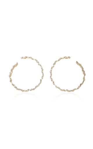 Spiral 18K Yellow-Gold Hoop Earrings