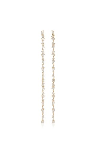 18K Yellow Gold Dangle Earrings
