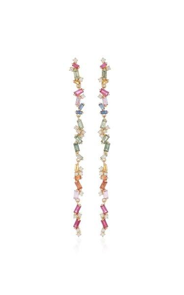 Rainbow 18K Yellow-Gold Dangle Earrings