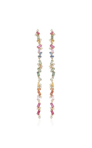 Rainbow 18K Yellow-Gold Dangle Earrings