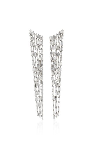 18K White-Gold and Diamond Icicle Earrings