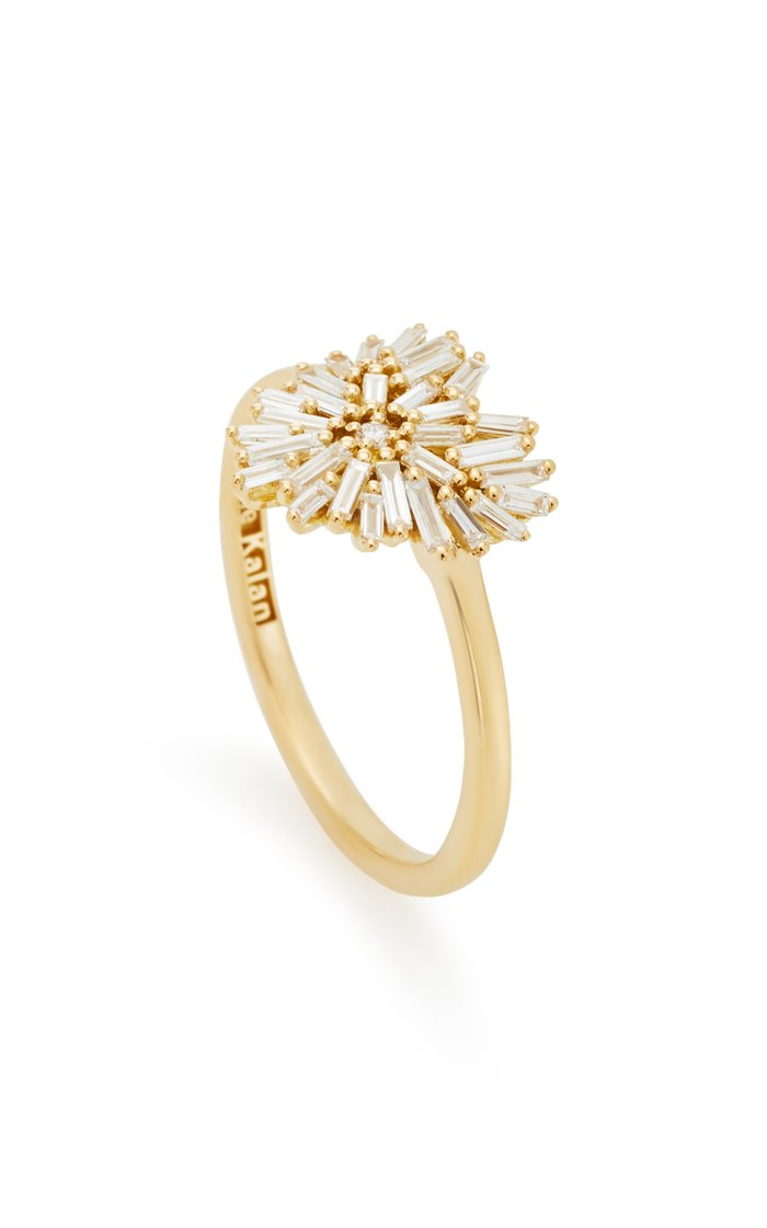 18K Yellow-Gold Heart Ring