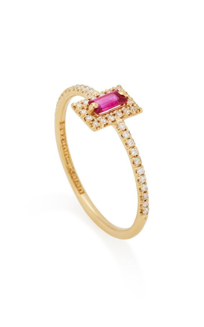 18K Yellow-Gold Ruby Ring