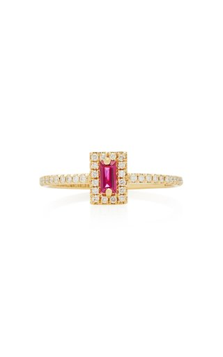 18K Yellow-Gold Ruby Ring
