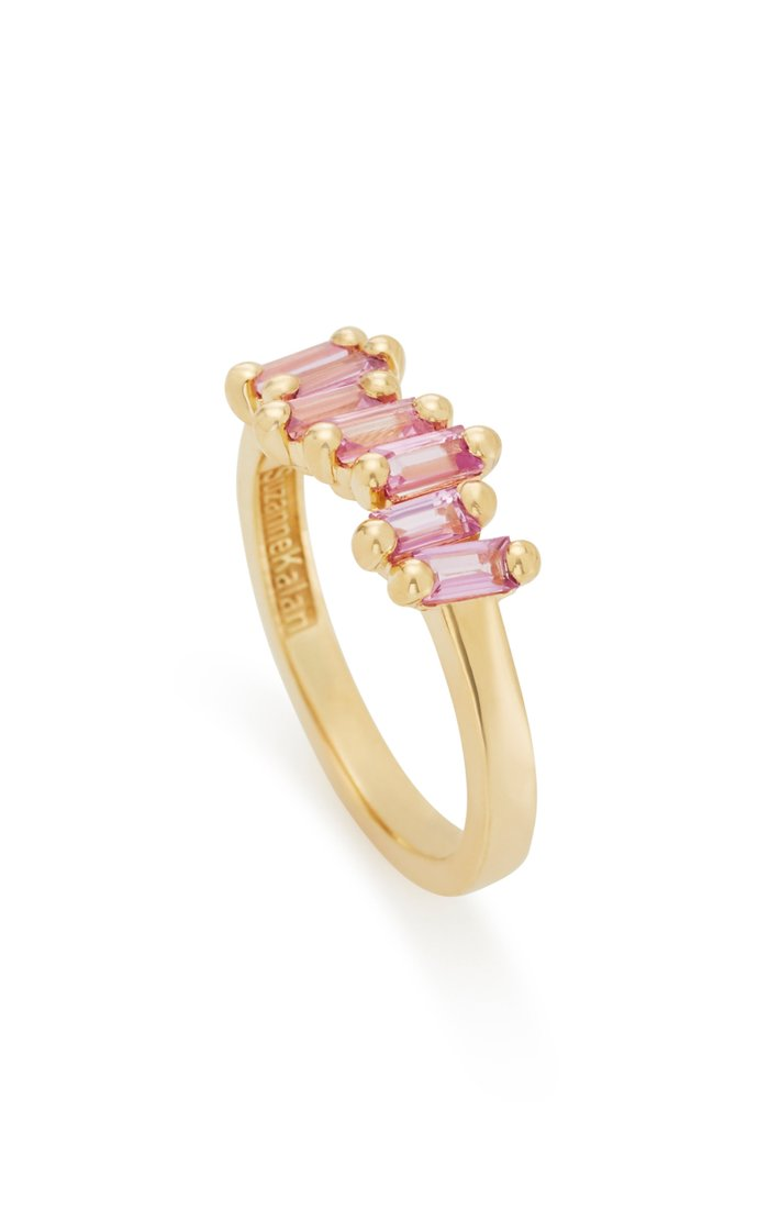 18K Yellow-Gold and Pink Sapphire Ring