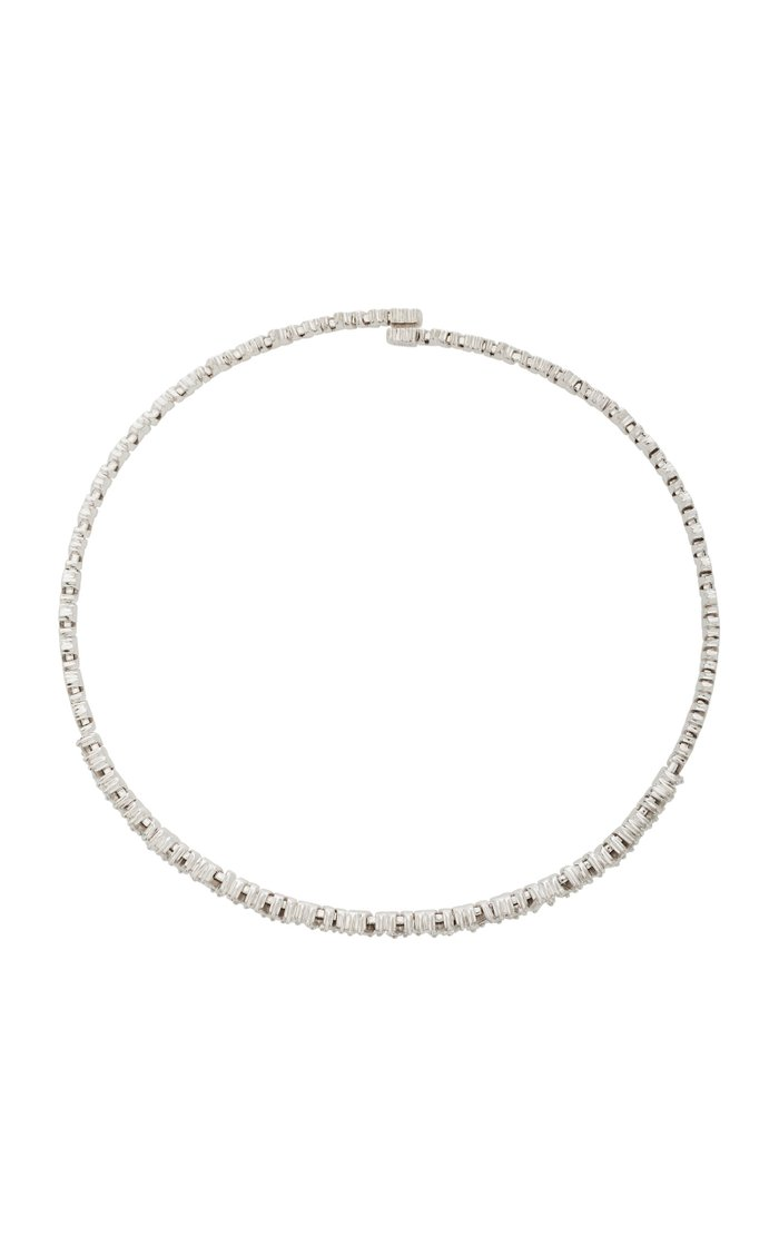 18K White-Gold and Diamond Baguette Choker