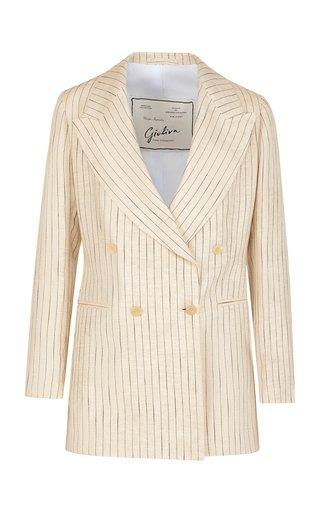 The Stella Pinstriped Linen Blazer
