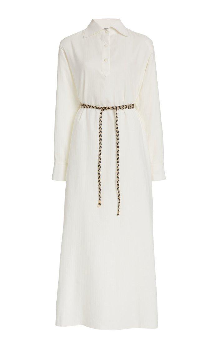 The Antonine Cotton and Cashmere-Blend Maxi Dress