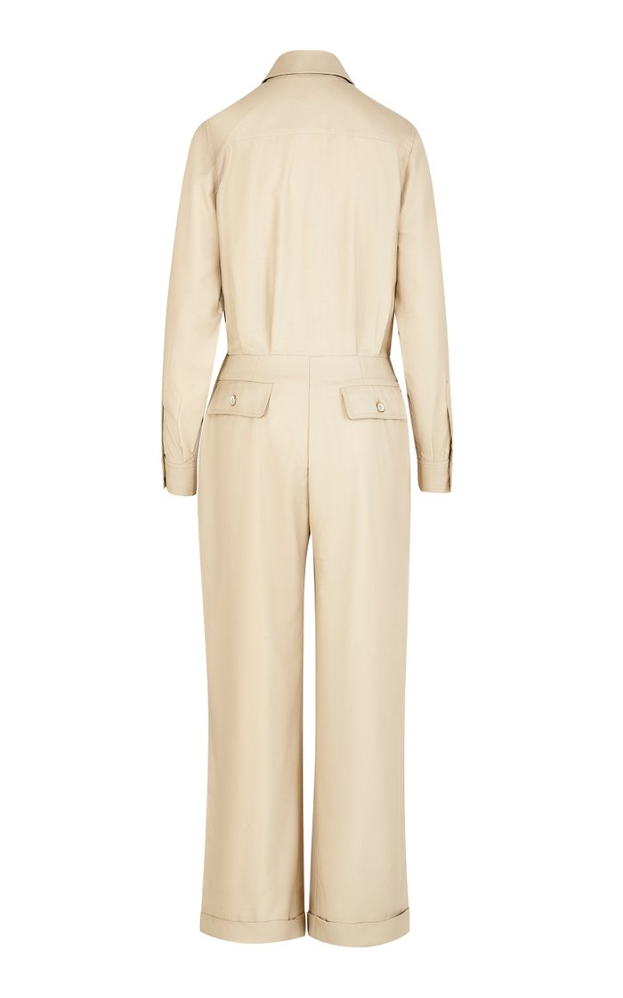 The Lauren Cotton-Blend Twill Jumpsuit