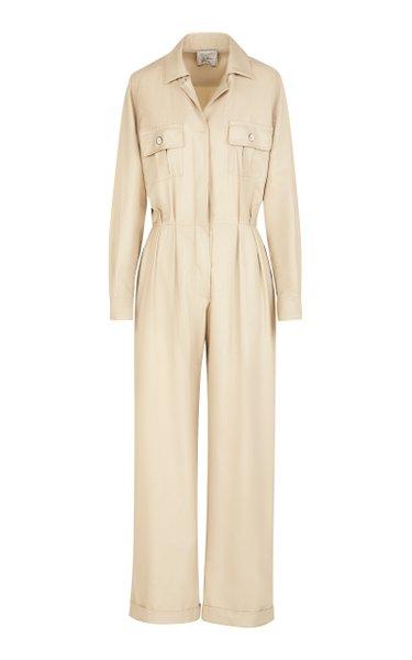 The Lauren Cotton-Blend Twill Jumpsuit