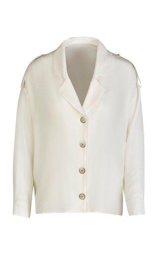 The Sara Shirt Silk Crepe De Chine Top