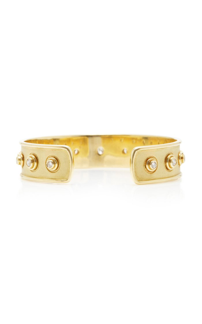 Florentine 18K Gold Diamond Cuff