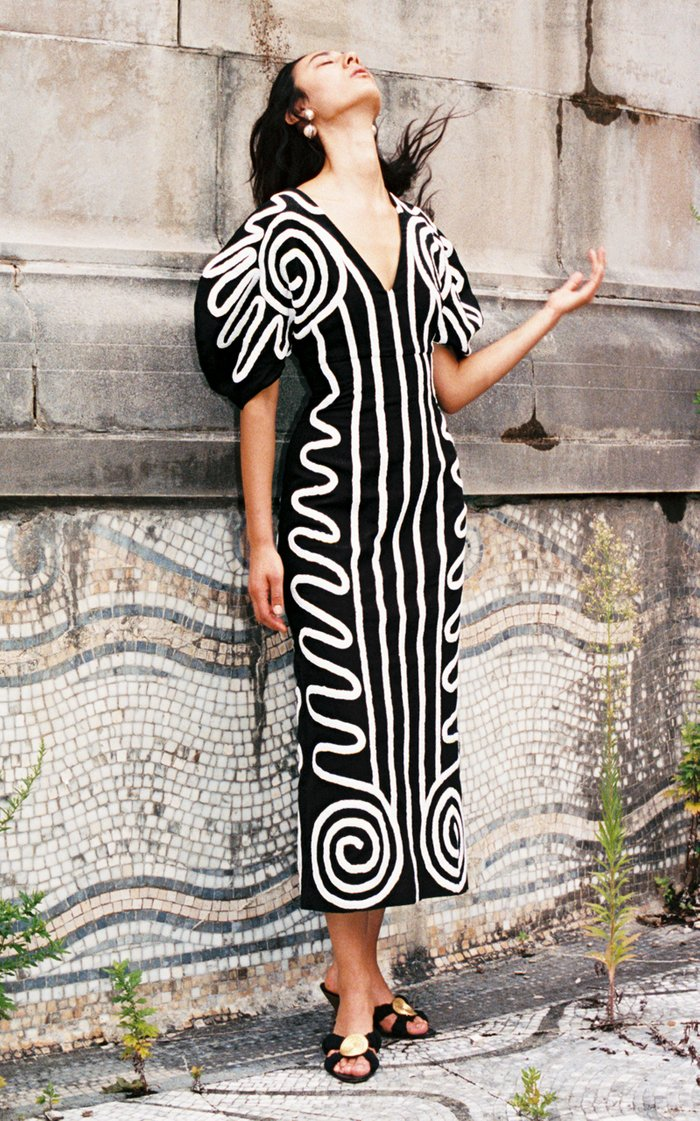 Melia Printed Cotton-Blend Midi Dress