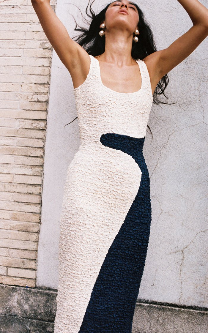 Sloan Two-Tone Modal Midi Dress
