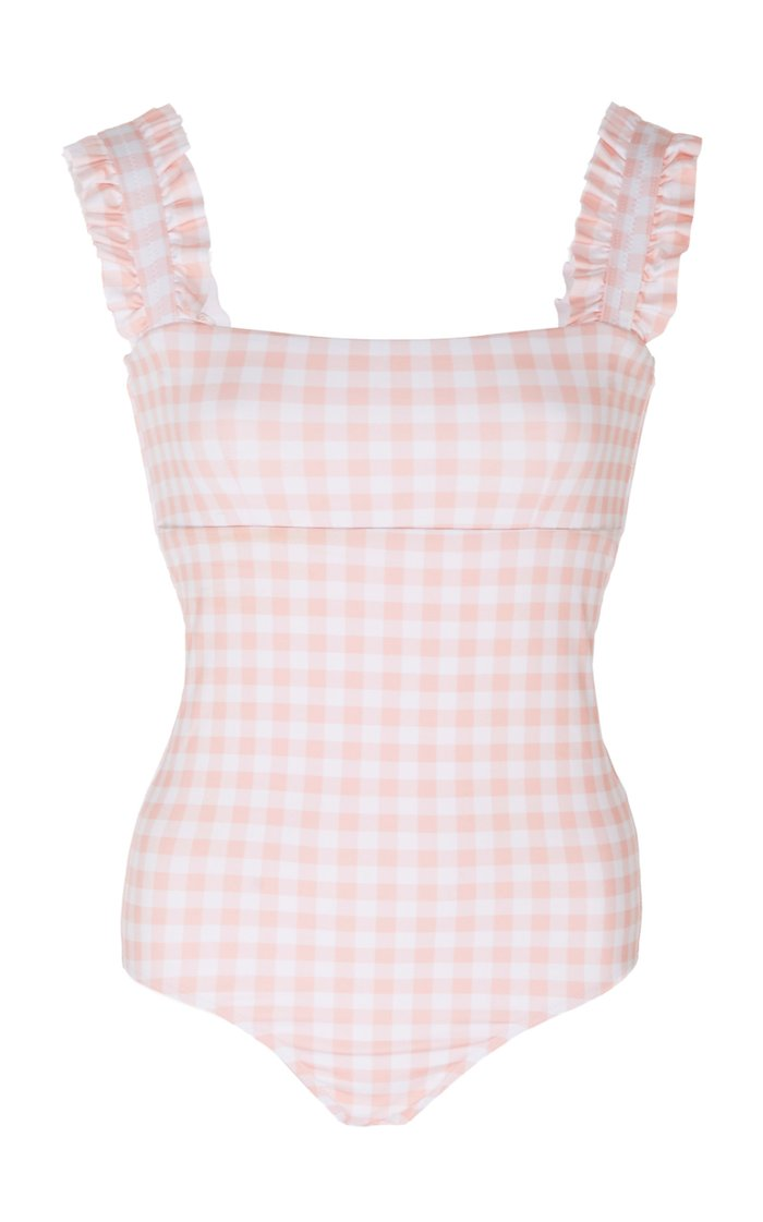 Ruffled Gingham Swimsuit