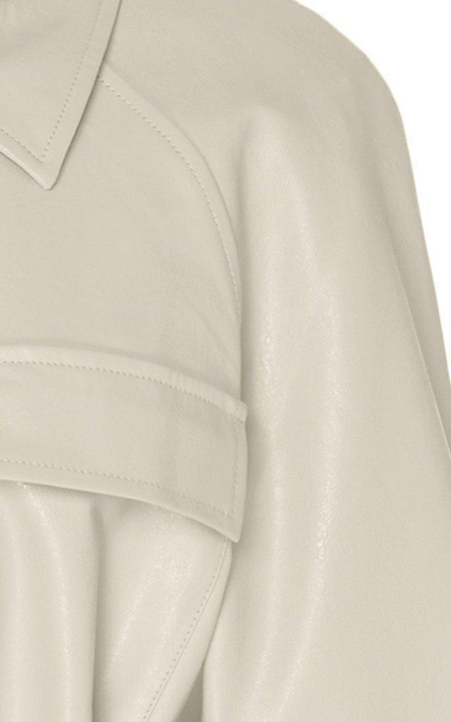 Tina Belted Vegan Leather Jacket