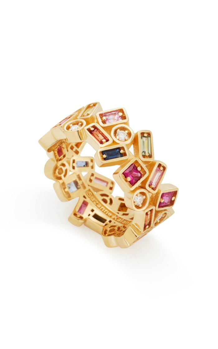 Inlay Collection Rainbow Sapphire Ring