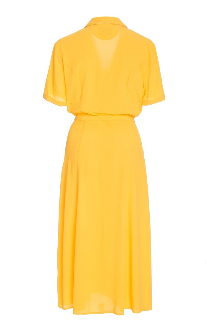 Maria Button-Down Crepe Pajama Dress