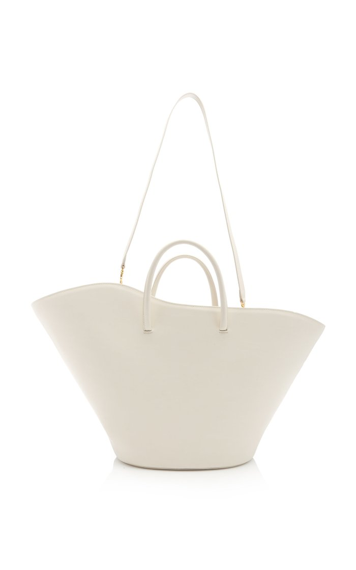 Open Tulip Large Leather Tote
