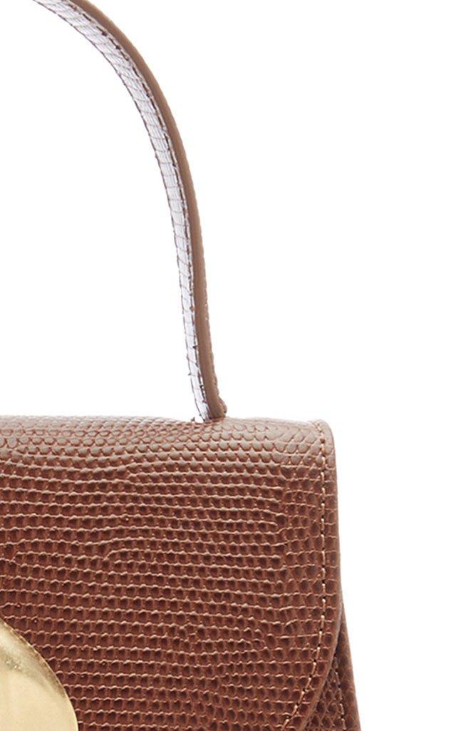 Little Lady Lizard-Effect Top Handle Bag