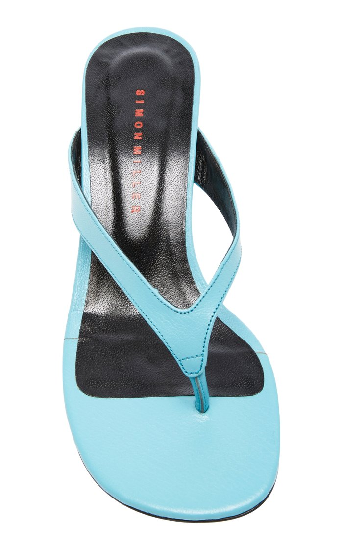 Beep Leather Thong Sandals