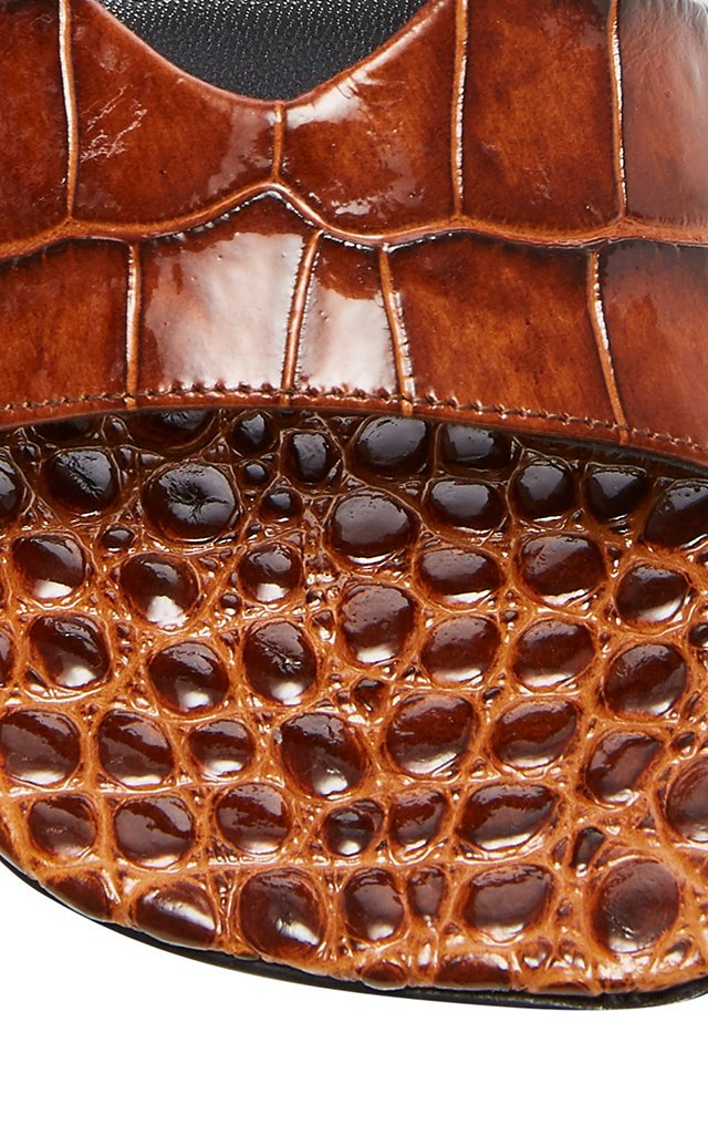 Hammer Croc-Effect Leather Sandals