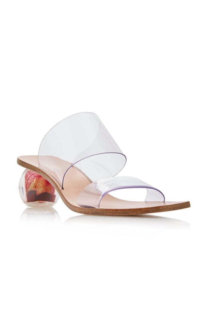 Jila PVC and Leather Sandals