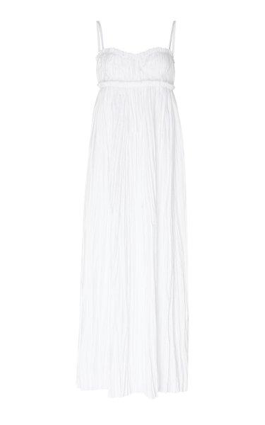 Jordyn Cotton Plissé Maxi Dress