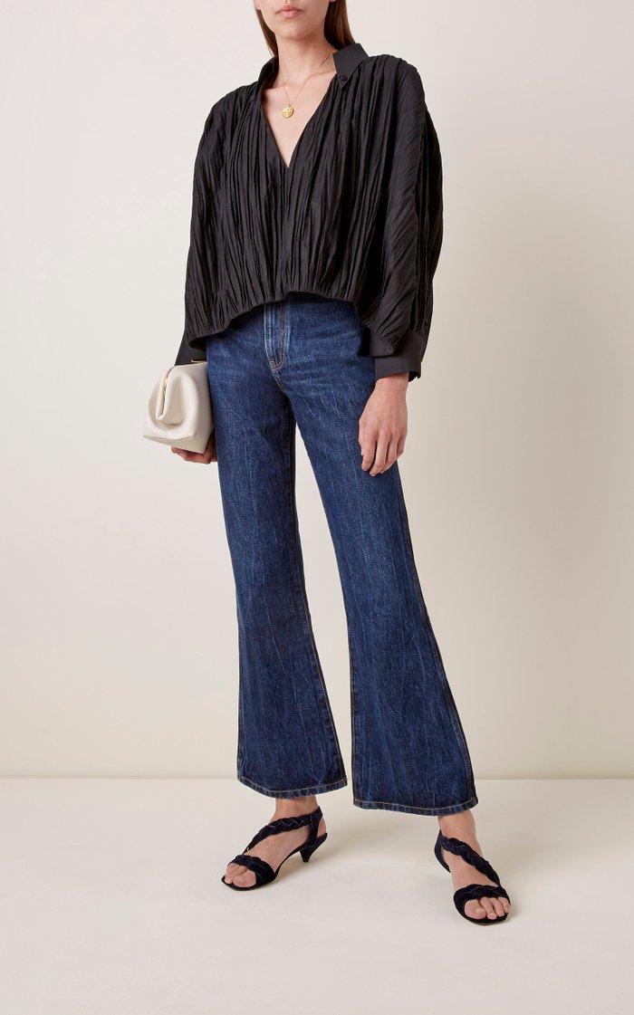 Gabbie Rigid High-Rise Flare-Leg Jeans