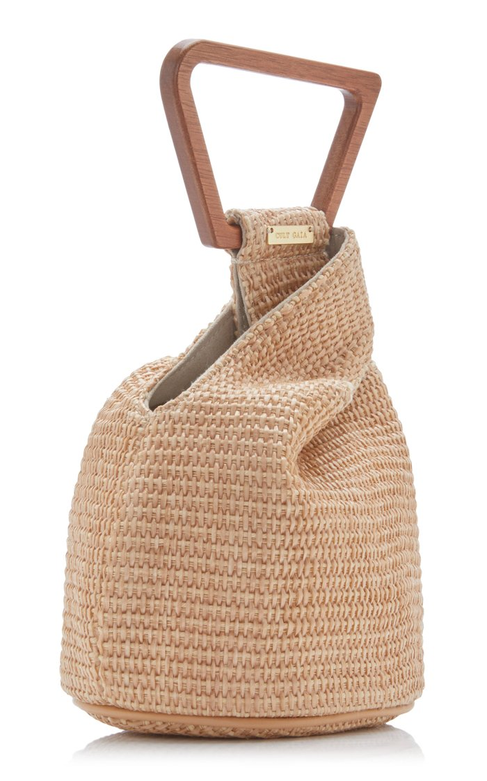 Astrea Mini Raffia Top Handle Bag