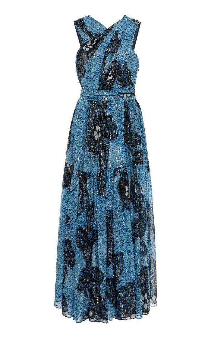 Adora Floral Silk Dress