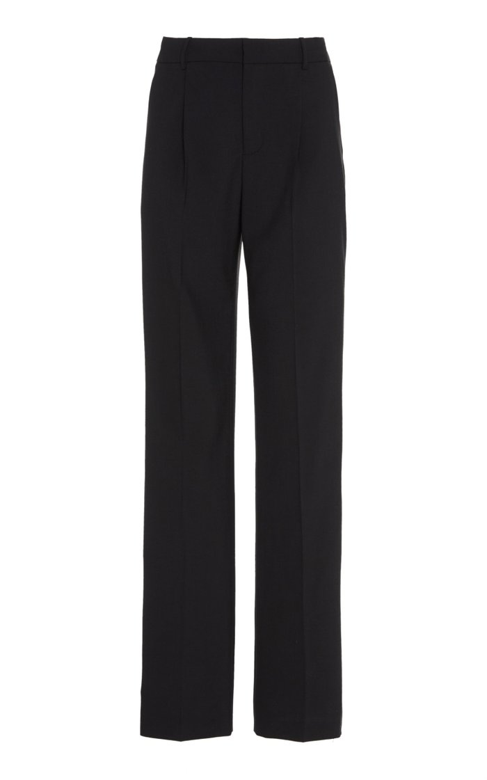 Crystal-Embellished Straight-Leg Trousers