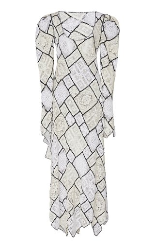 Patchwork Lace Cotton-Blend Maxi Dress